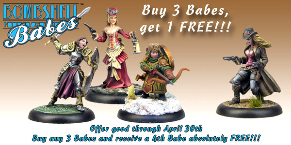 FREE Babes & Sidekicks this month